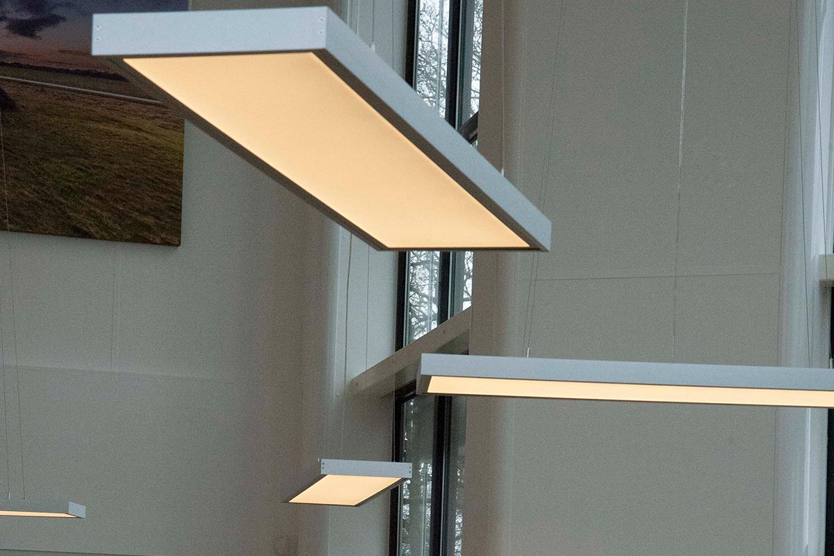 128 LEDpanelen ontvangstruimte SmiLED Lighting